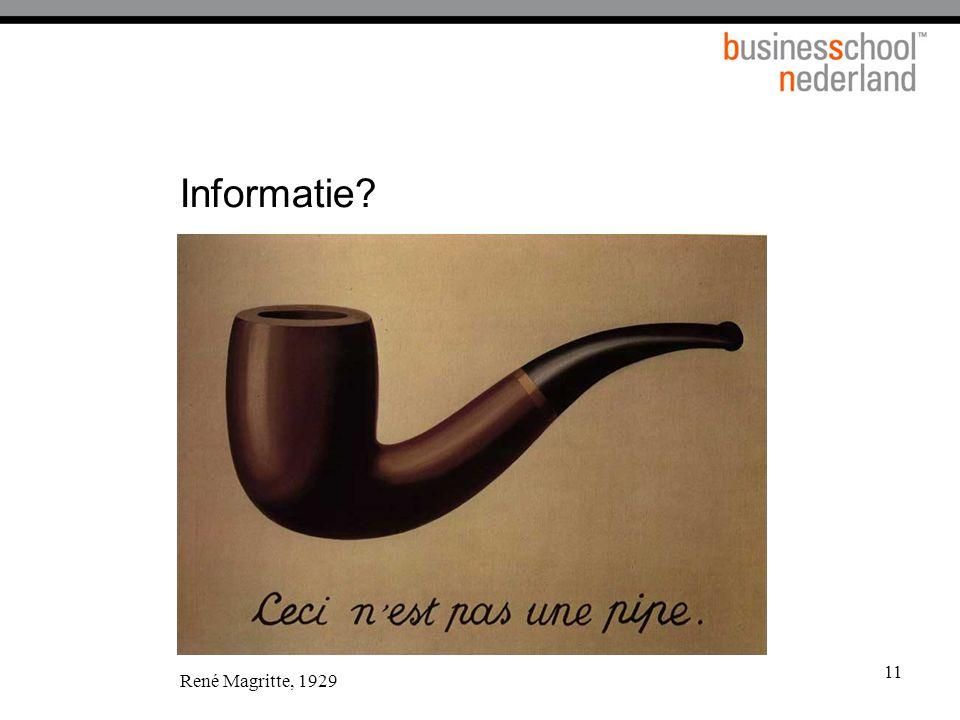 11 Informatie? René Magritte, 1929