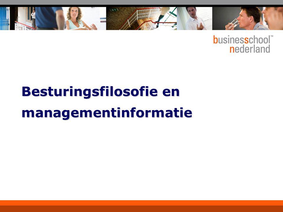 Besturingsfilosofie en managementinformatie
