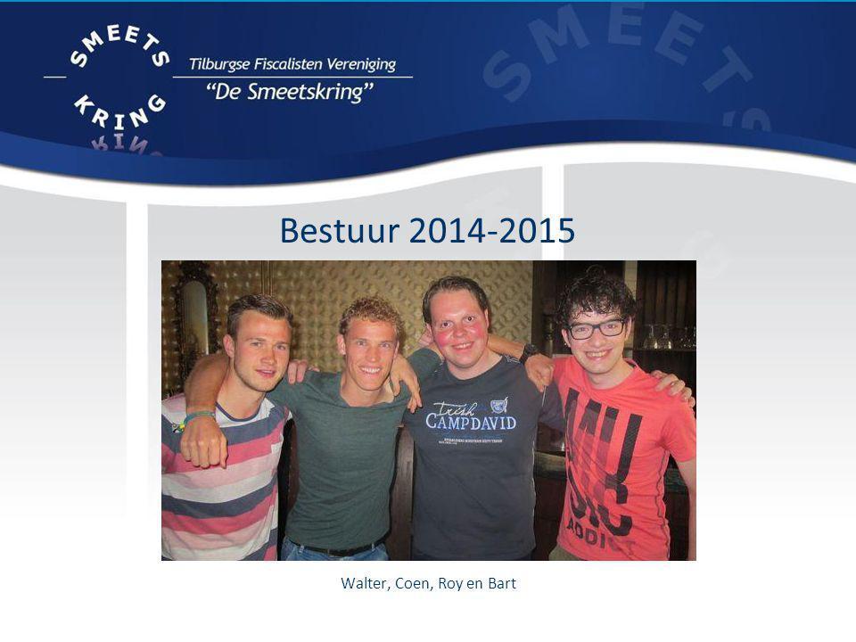Bestuur 2014-2015 Walter, Coen, Roy en Bart