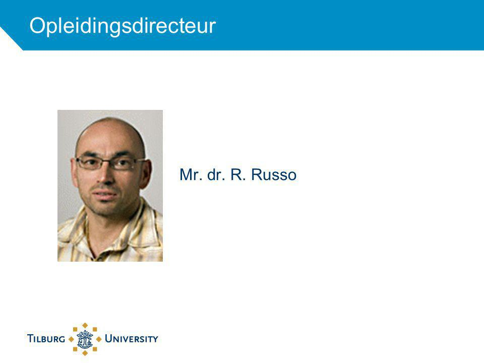 Mr. dr. R. Russo Opleidingsdirecteur
