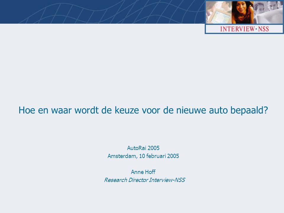 AutoRai proj 62228, 10 feb 2005 2 Inleiding en opzet  Door de snelle opkomst van het Internet is het zoeken naar de nieuwe (of gebruikte) auto sterk veranderd.