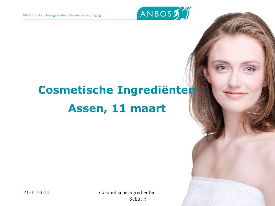 21-11-2014Cosmetische ingredienten, Marieke Schutte Cosmetische Ingrediënten Assen, 11 maart