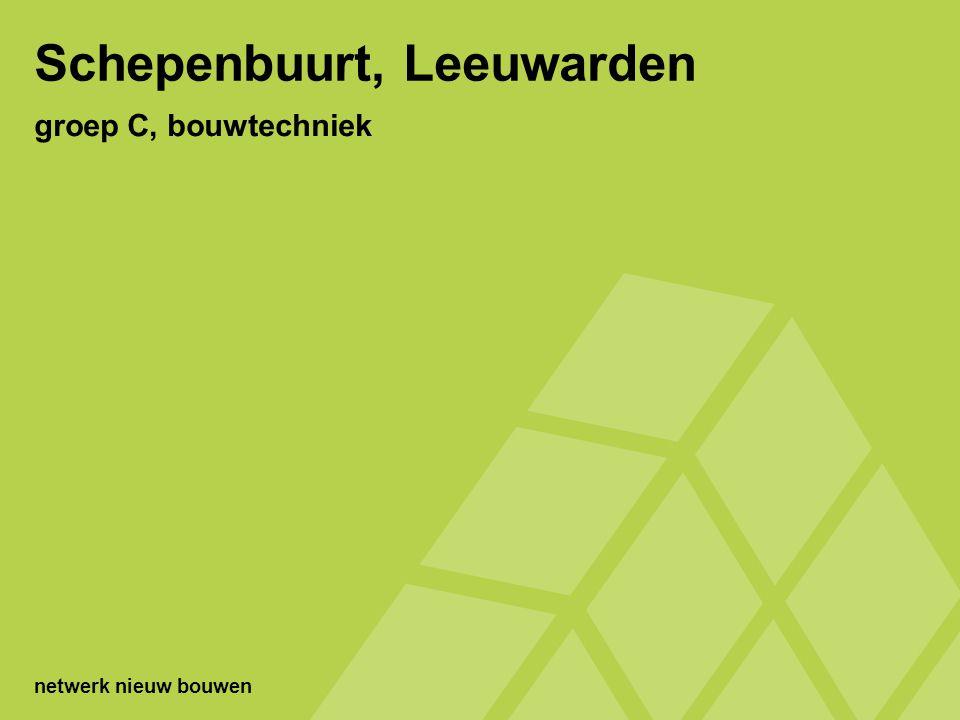 Schepenbuurt, Leeuwarden situatie - 42 geschakelde woningen (houtrijke woningen) - bouwjaar 1952 opdracht realiseer m.b.v.