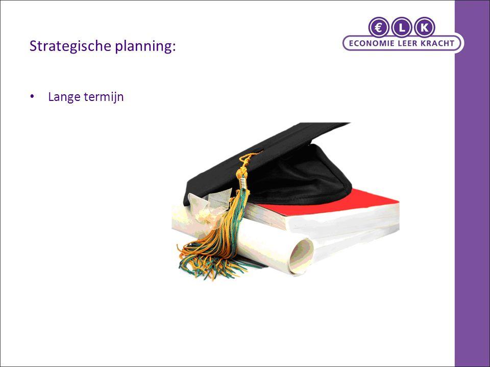 2.2 Drie niveaus van bedrijfsplanning Functionele planning: Jaaroverzicht Economie 0910 Per.KalenderPeriodeDataSoort week weeknr.