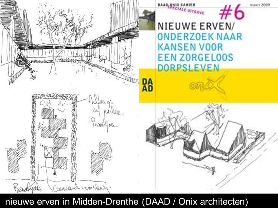 Ontwikkelingen voor starters en ouderen op nieuwe erven in Midden-Drenthe (DAAD / Onix architecten)