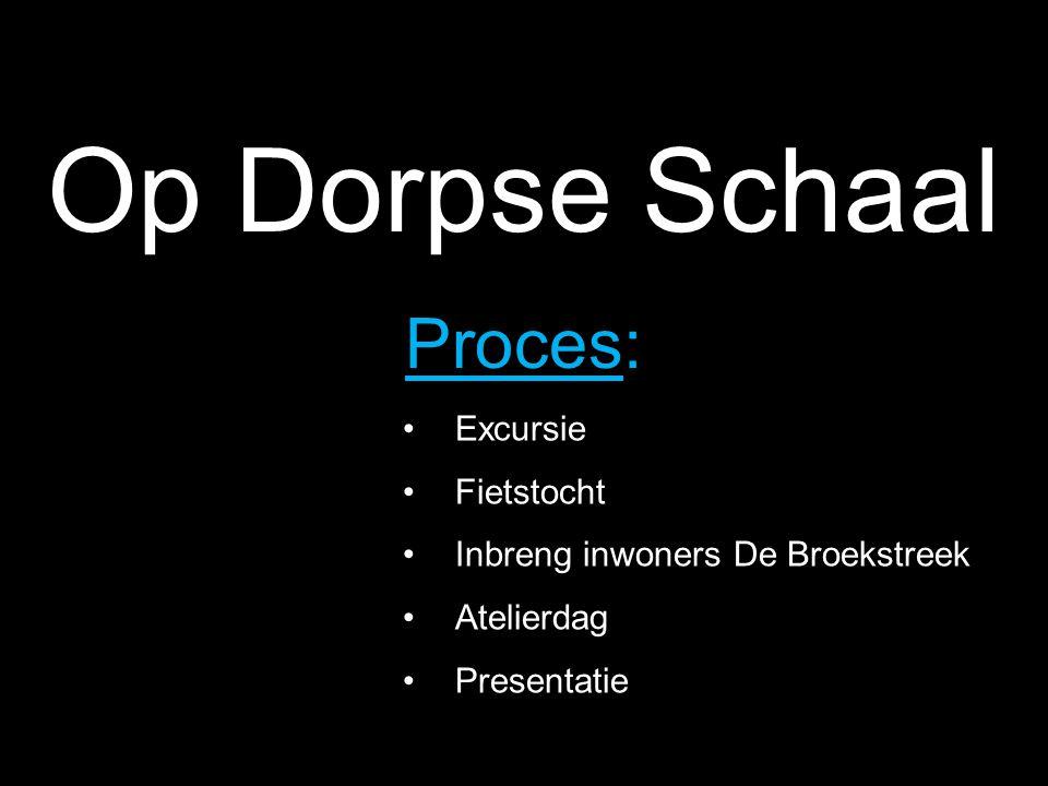 Op Dorpse Schaal Proces: Excursie Fietstocht Inbreng inwoners De Broekstreek Atelierdag Presentatie