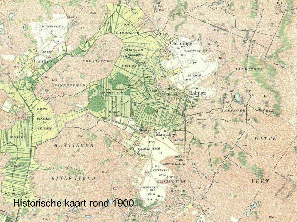 Historische kaart rond 1900