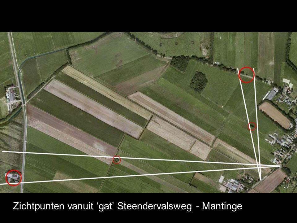 Zichtpunten vanuit 'gat' Steendervalsweg - Mantinge