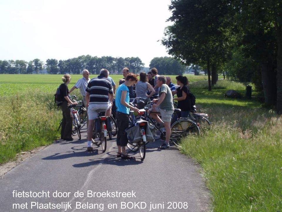 fietstocht door de Broekstreek met Plaatselijk Belang en BOKD juni 2008