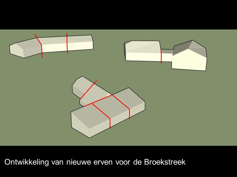 Ontwikkeling van nieuwe erven voor de Broekstreek