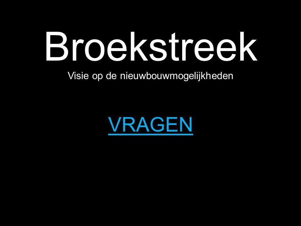 Broekstreek Visie op de nieuwbouwmogelijkheden HOSPER landschapsarchitectuur & stedebouw VRAGEN