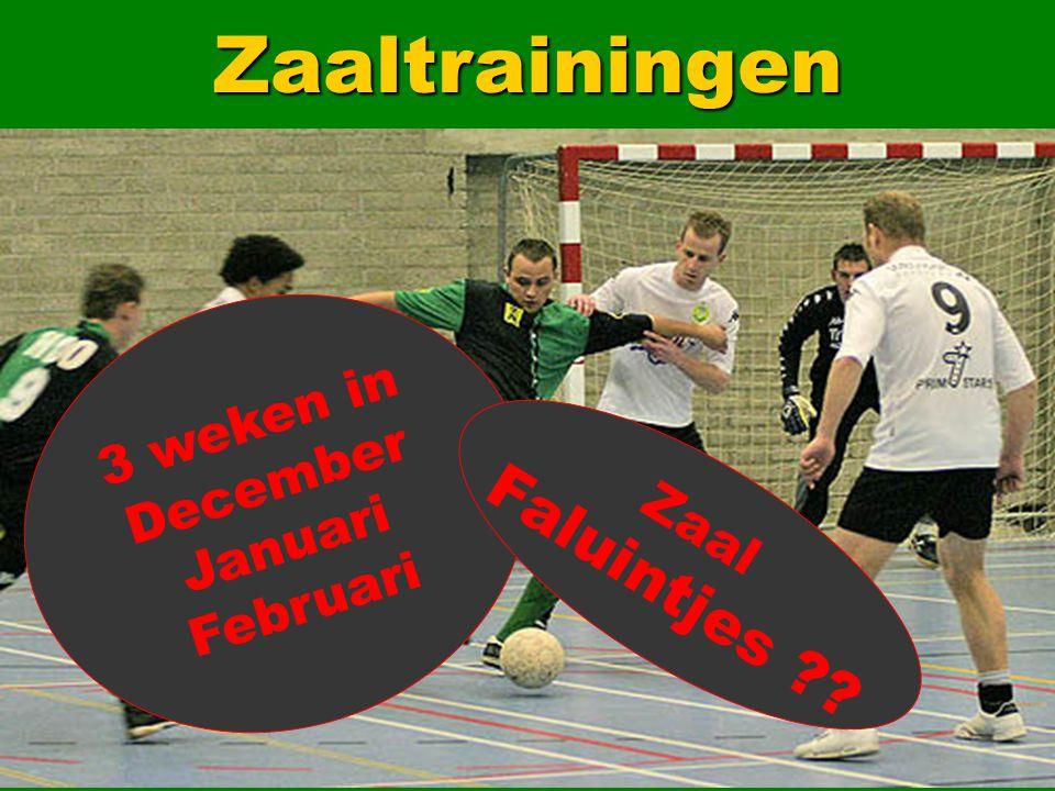 26Zaaltrainingen 3 weken in December Januari Februari Zaal Faluintjes ??