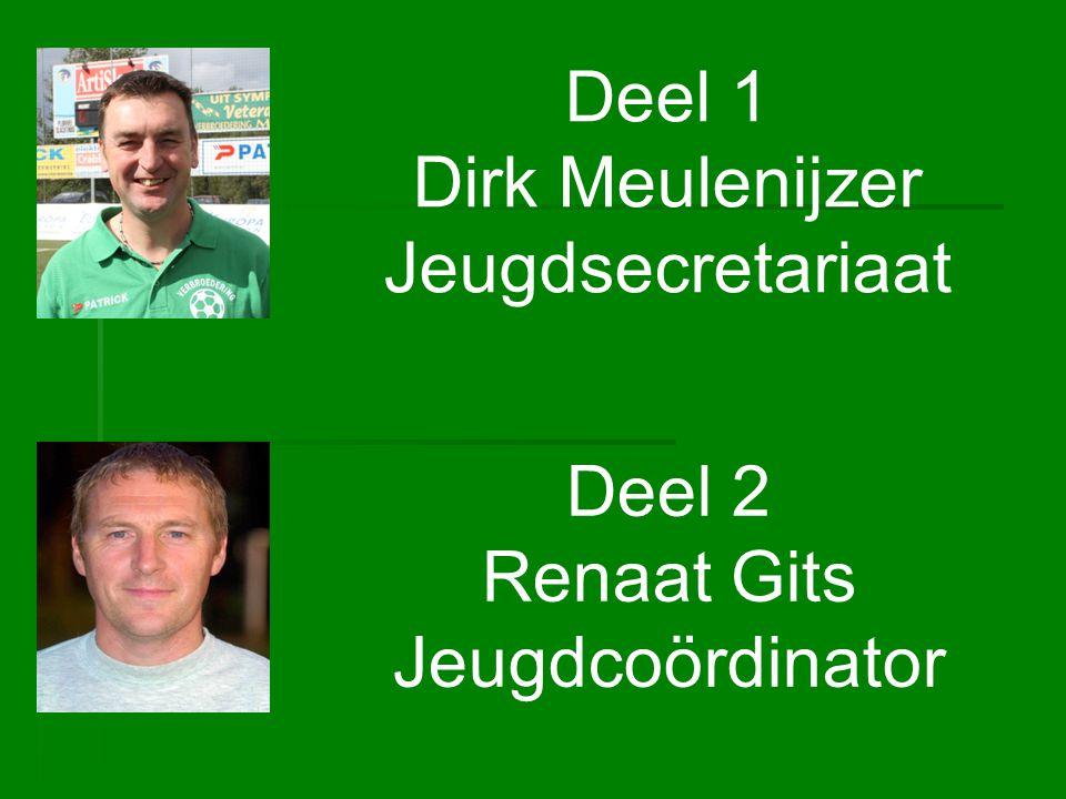 Deel 1 Dirk Meulenijzer Jeugdsecretariaat Deel 2 Renaat Gits Jeugdcoördinator