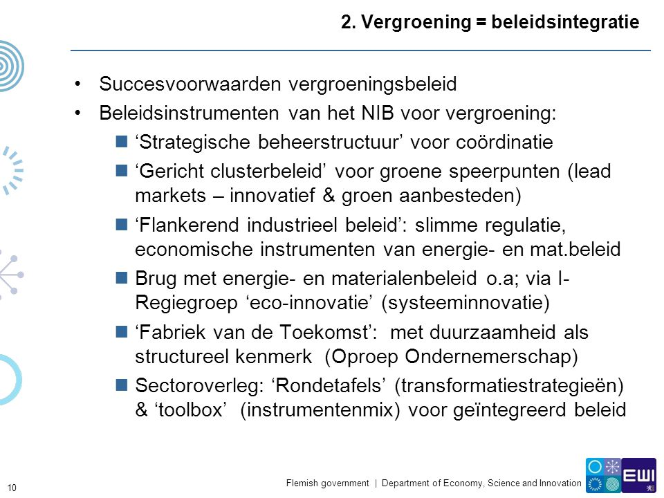 Flemish government | Department of Economy, Science and Innovation 2.