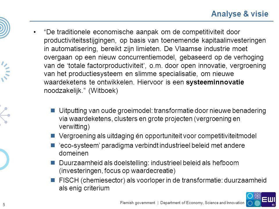 "Flemish government | Department of Economy, Science and Innovation Analyse & visie ""De traditionele economische aanpak om de competitiviteit door prod"