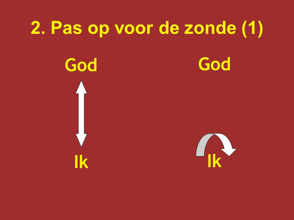 2. Pas op voor de zonde (1) God Ik God Ik