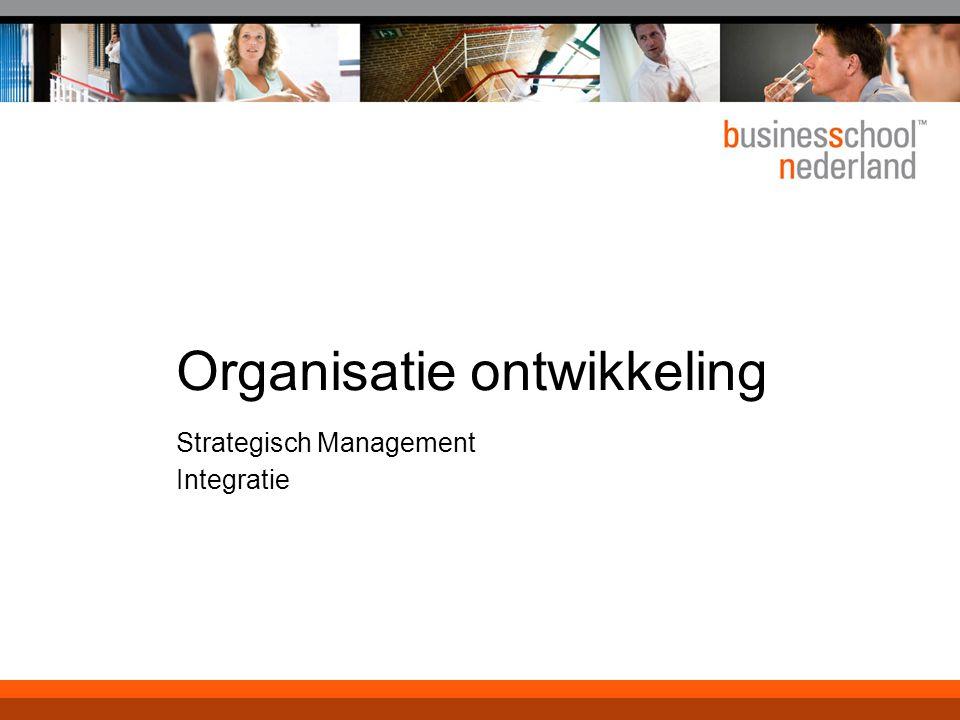 Organisatie ontwikkeling Strategisch Management Integratie