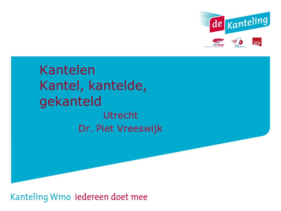 Kantelen Kantel, kantelde, gekanteld Utrecht Dr. Piet Vreeswijk