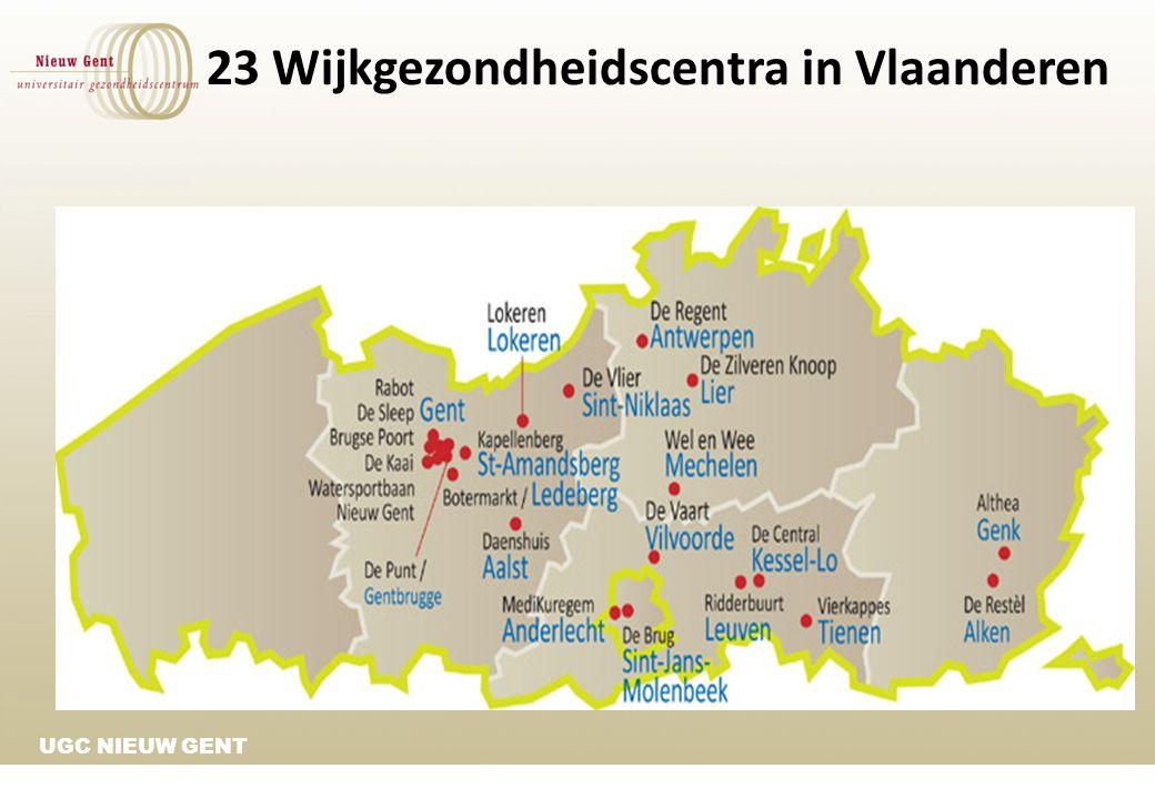 UGC NIEUW GENT 23 Wijkgezondheidscentra in Vlaanderen