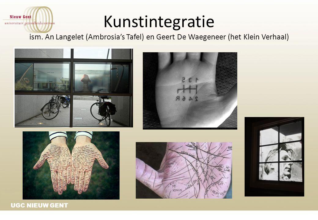 UGC NIEUW GENT Kunstintegratie ism. An Langelet (Ambrosia's Tafel) en Geert De Waegeneer (het Klein Verhaal)