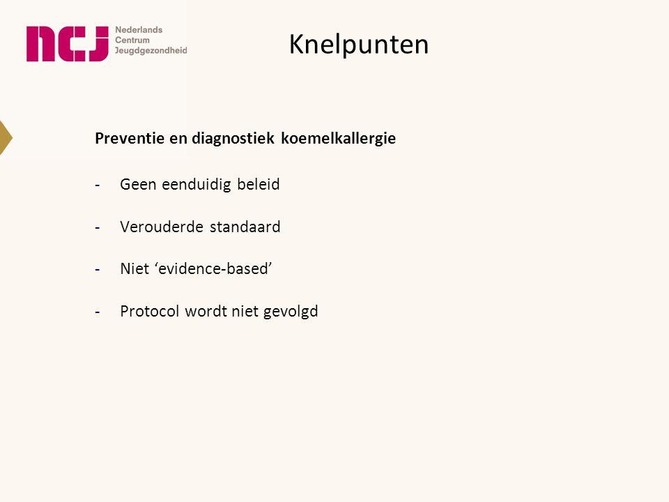 Nieuw Preventie coeliakie - borstvoeding minimaal 4-6 maanden -introductie van gluten vanaf de leeftijd van 4 maanden bijvoorkeur tijdens periode van borstvoeding (langlopend cohortonderzoek bij positieve familieanamnese coeliakie volgt) Akobeng 2006, Hoogen Esch 2010