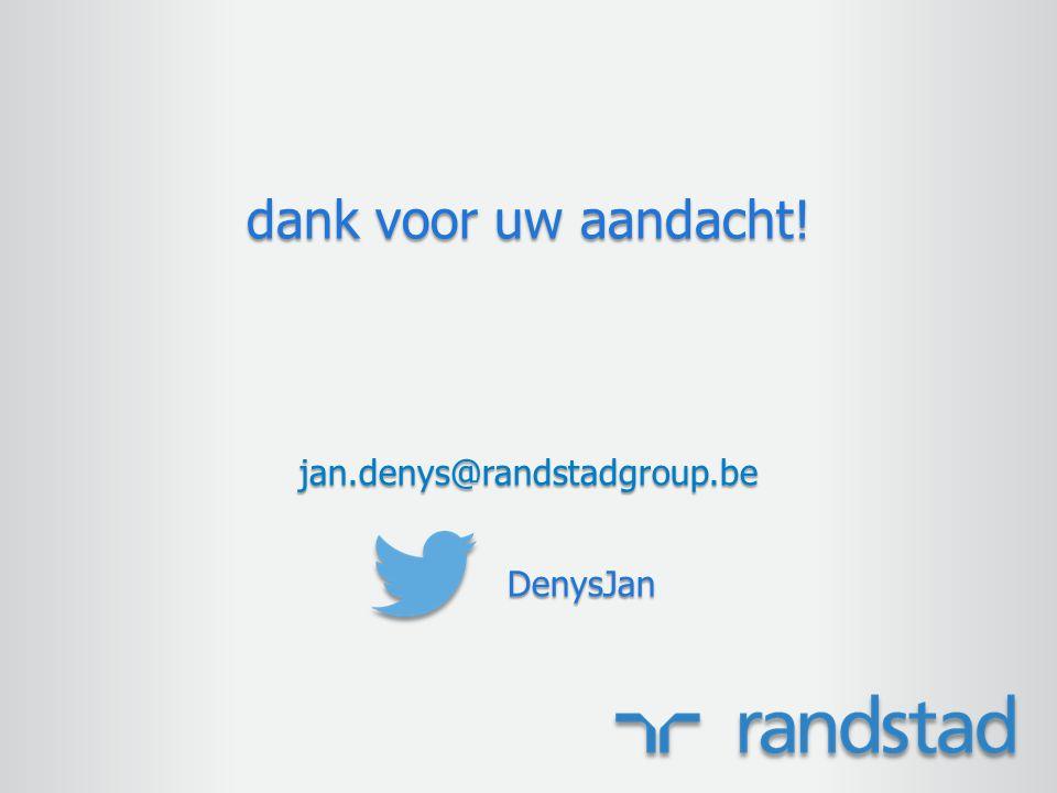 dank voor uw aandacht! jan.denys@randstadgroup.beDenysJan