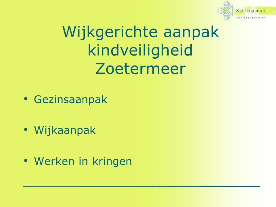 Wijkgerichte aanpak kindveiligheid Zoetermeer Gezinsaanpak Wijkaanpak Werken in kringen