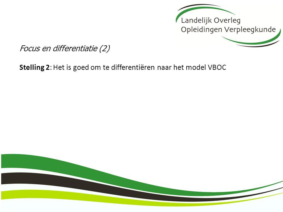 Focus en differentiatie (2) Stelling 2: Het is goed om te differentiëren naar het model VBOC