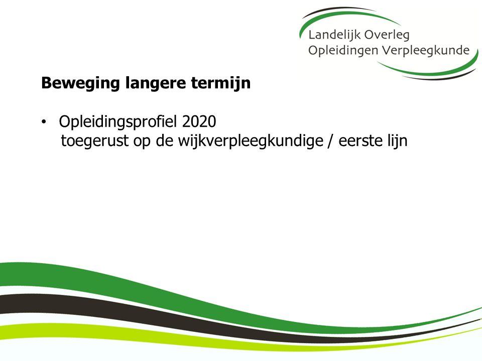 Beweging langere termijn Opleidingsprofiel 2020 toegerust op de wijkverpleegkundige / eerste lijn