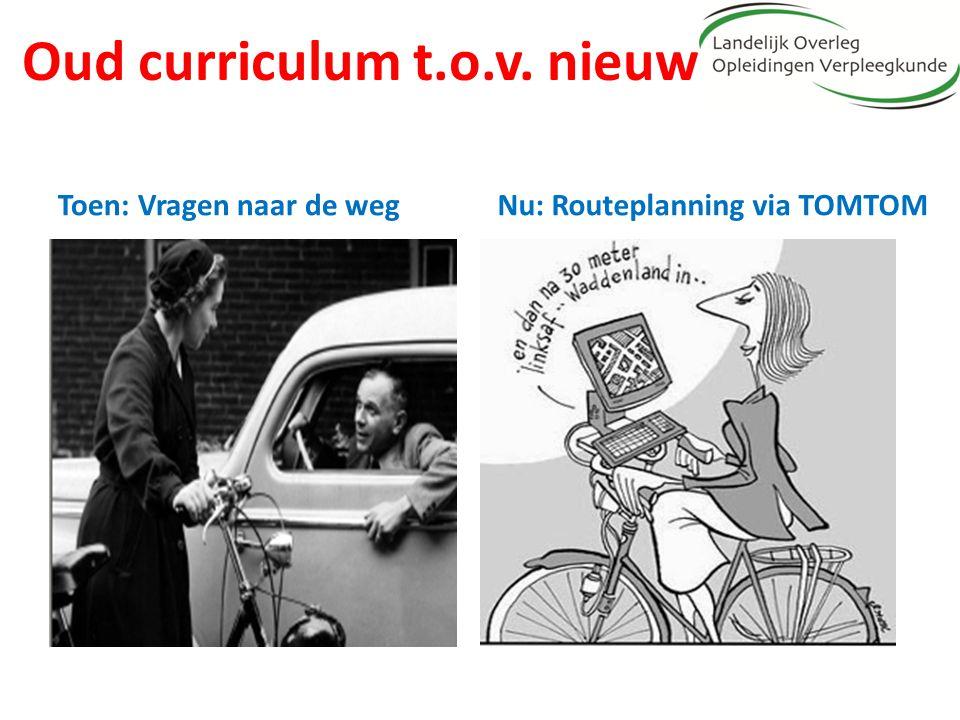 Oud curriculum t.o.v. nieuw Toen: Vragen naar de wegNu: Routeplanning via TOMTOM