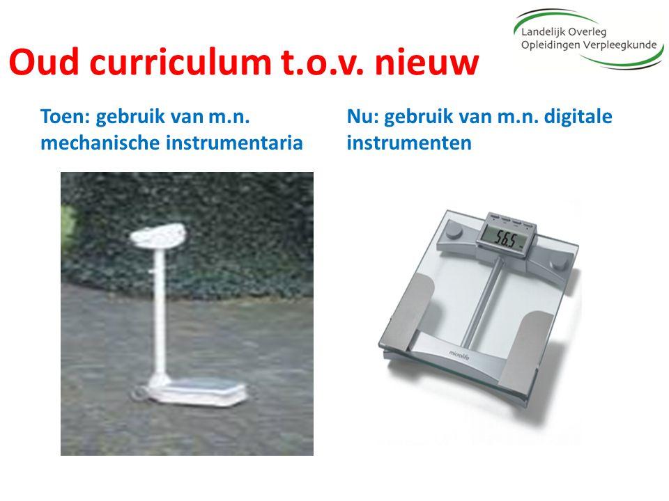Oud curriculum t.o.v. nieuw Toen: gebruik van m.n. mechanische instrumentaria Nu: gebruik van m.n. digitale instrumenten
