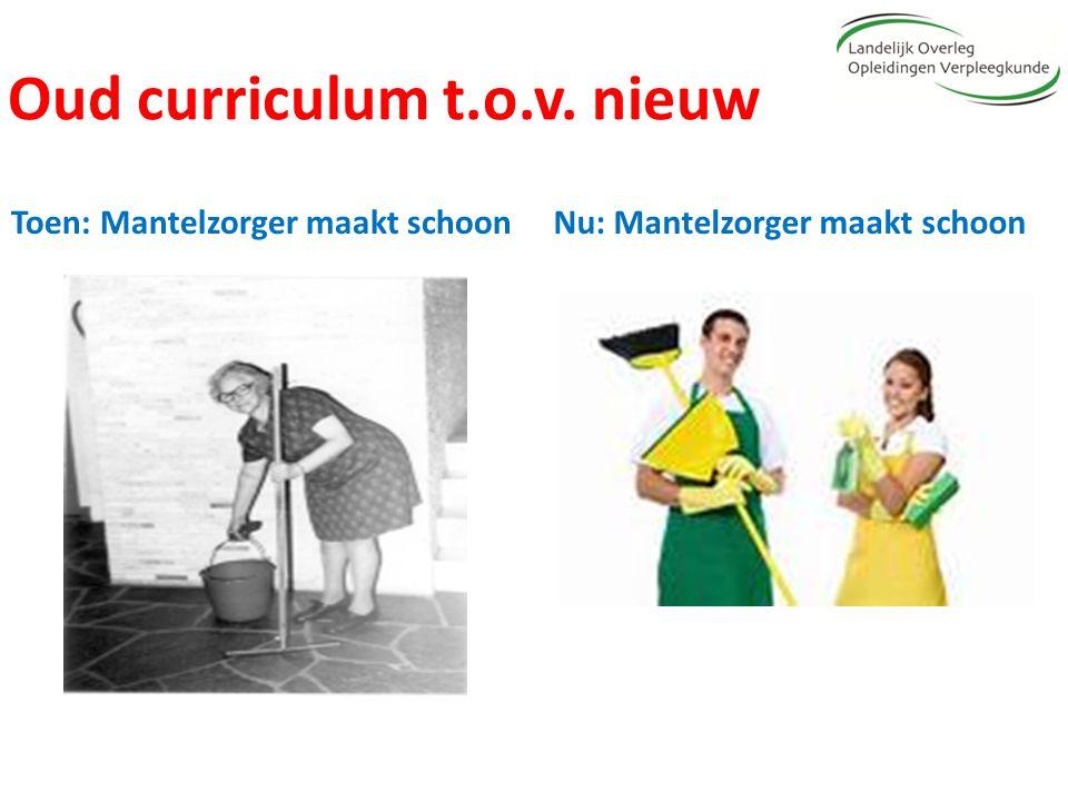 Oud curriculum t.o.v. nieuw Toen: Mantelzorger maakt schoonNu: Mantelzorger maakt schoon
