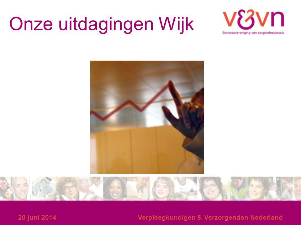Onze uitdagingen Wijk 20 juni 2014Verpleegkundigen & Verzorgenden Nederland