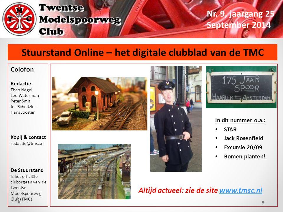 Stuurstand Online – het digitale clubblad van de TMC Nr. 9, jaargang 25 September 2014 Colofon Redactie Theo Nagel Leo Waterman Peter Smit Jos Schnitz