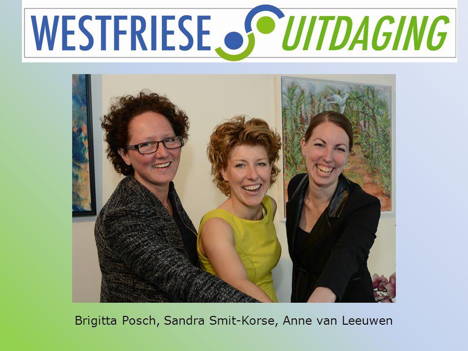 Brigitta Posch, Sandra Smit-Korse, Anne van Leeuwen HOC lunchbijeenkomst Stichting Westfriese Uitdaging