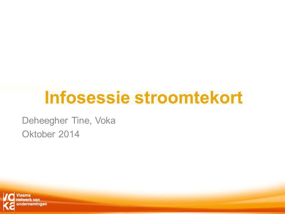 Infosessie stroomtekort Deheegher Tine, Voka Oktober 2014