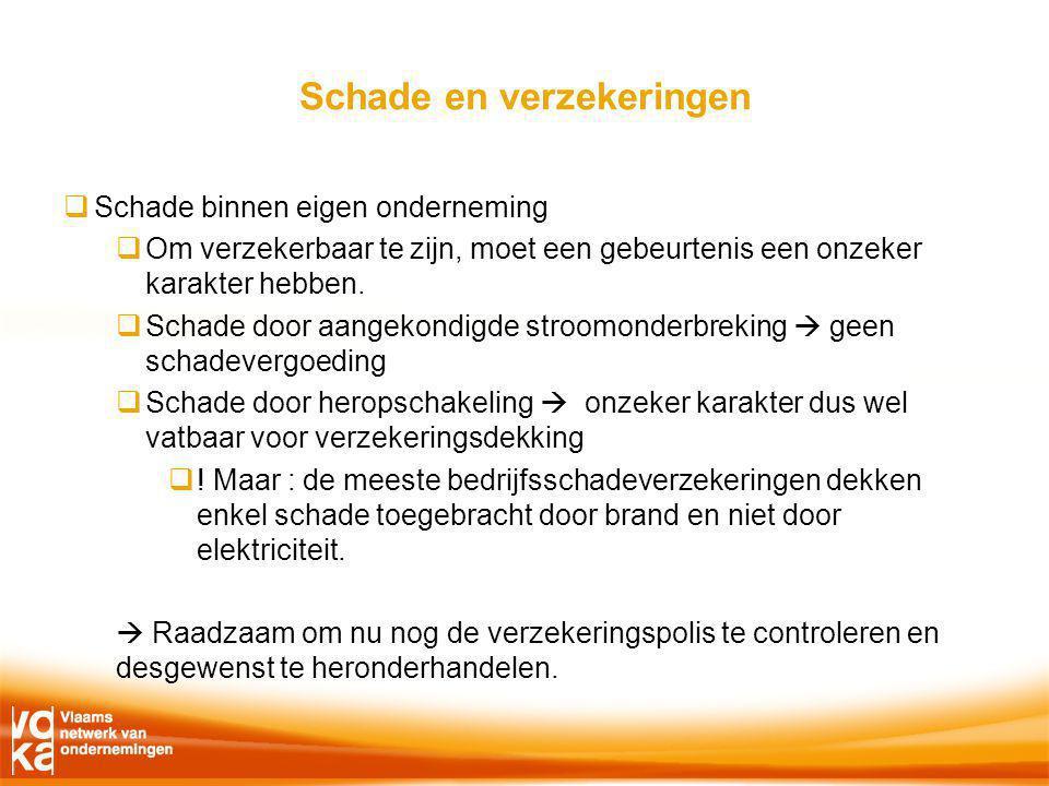 Schade en verzekeringen  Schade binnen eigen onderneming  Om verzekerbaar te zijn, moet een gebeurtenis een onzeker karakter hebben.
