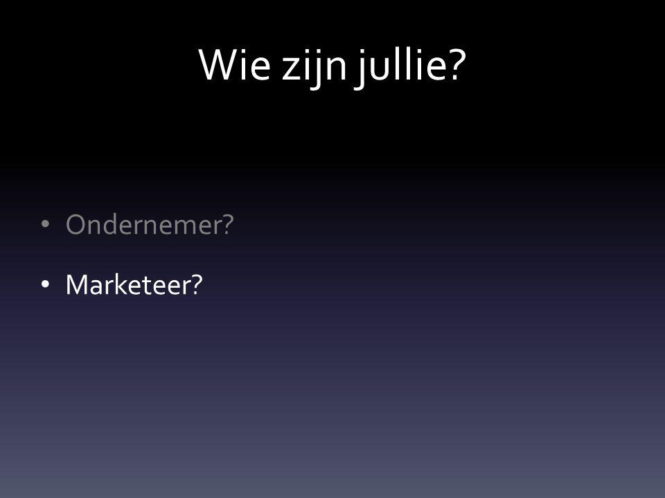 Wie zijn jullie Ondernemer Marketeer