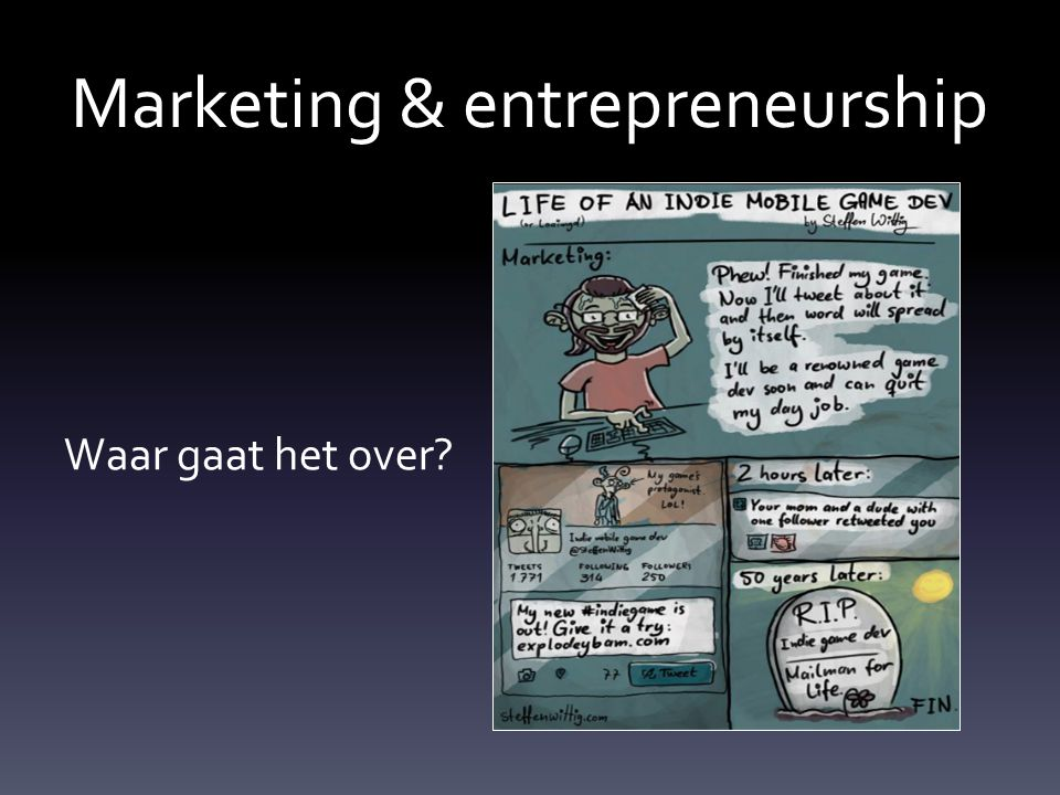 Marketing & entrepreneurship Waar gaat het over?