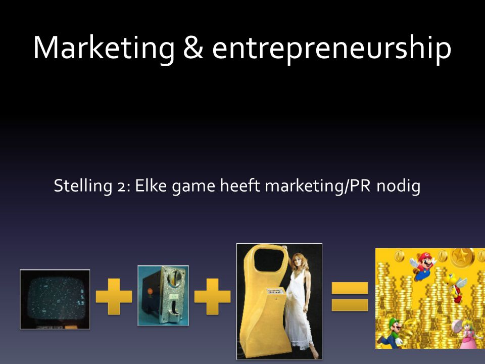 Marketing & entrepreneurship Stelling 2: Elke game heeft marketing/PR nodig