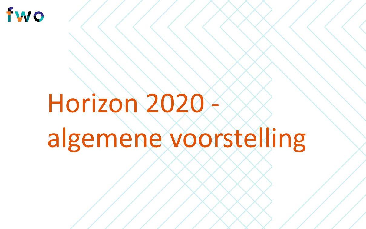 Horizon 2020 - algemene voorstelling