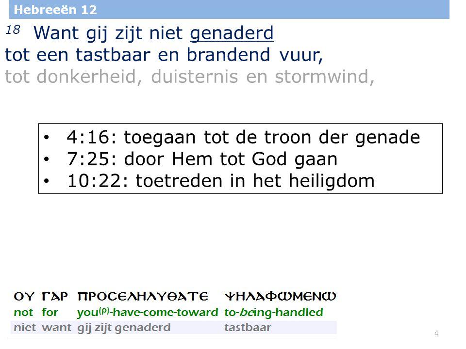 25 Hebreeën 12 25 Ziet dan toe, dat gij Hem, die spreekt, niet afwijst.