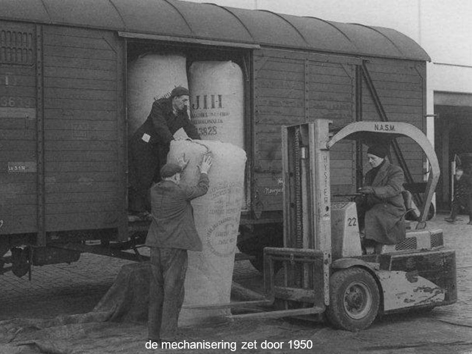 de mechanisering zet door 1950