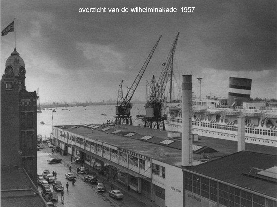 overzicht van de wilhelminakade 1957