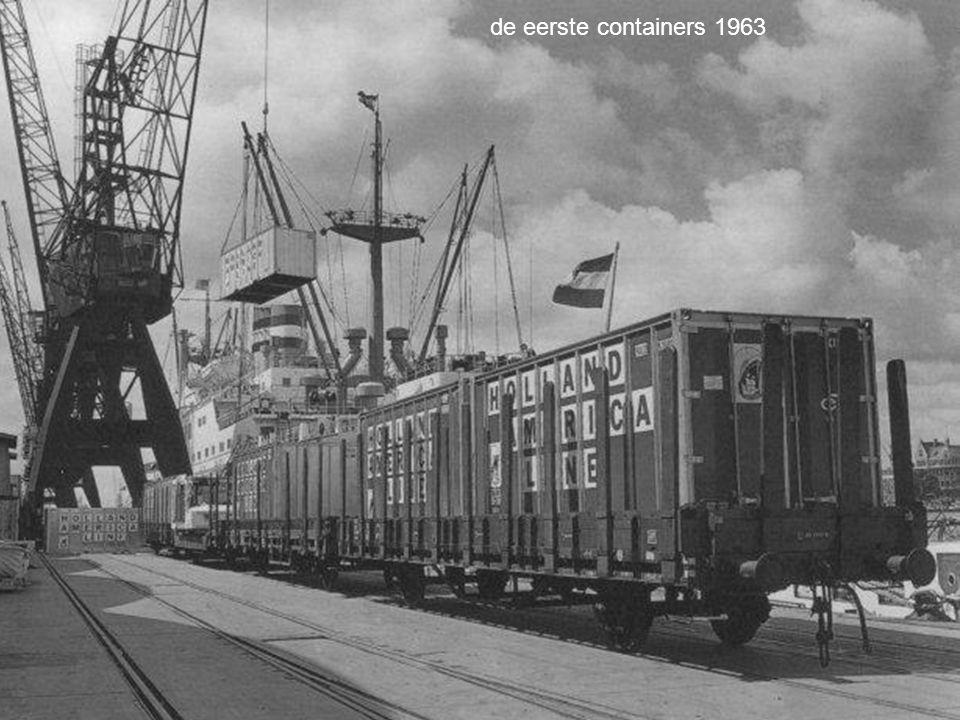 de eerste containers 1963