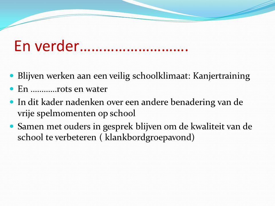 De rode draad van dit schooljaar Verder met Opbrengst Gericht Werken Dat betekent: Onderwijs nog meer inrichten aan behoeften van leerlingen Denken in