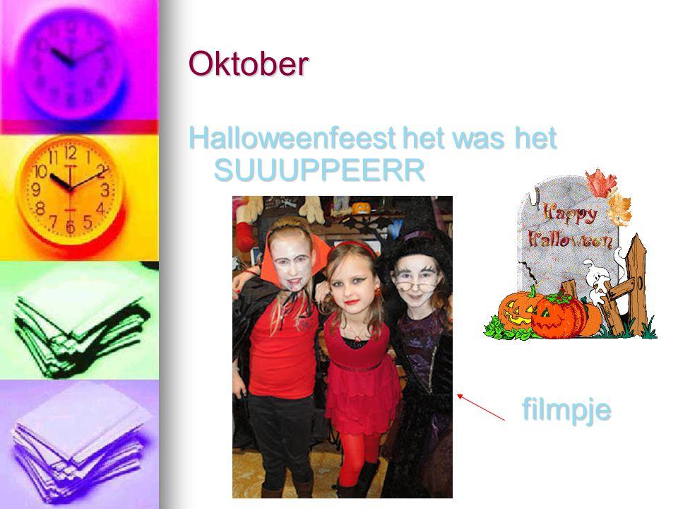Oktober Halloweenfeest het was het SUUUPPEERR filmpje filmpje