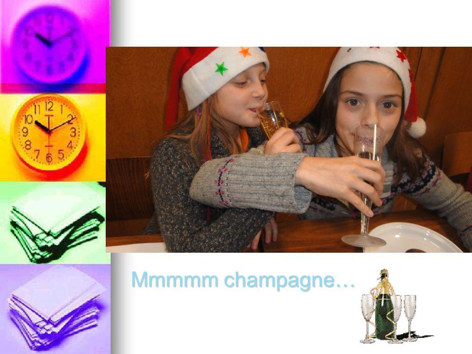 Mmmmm champagne…