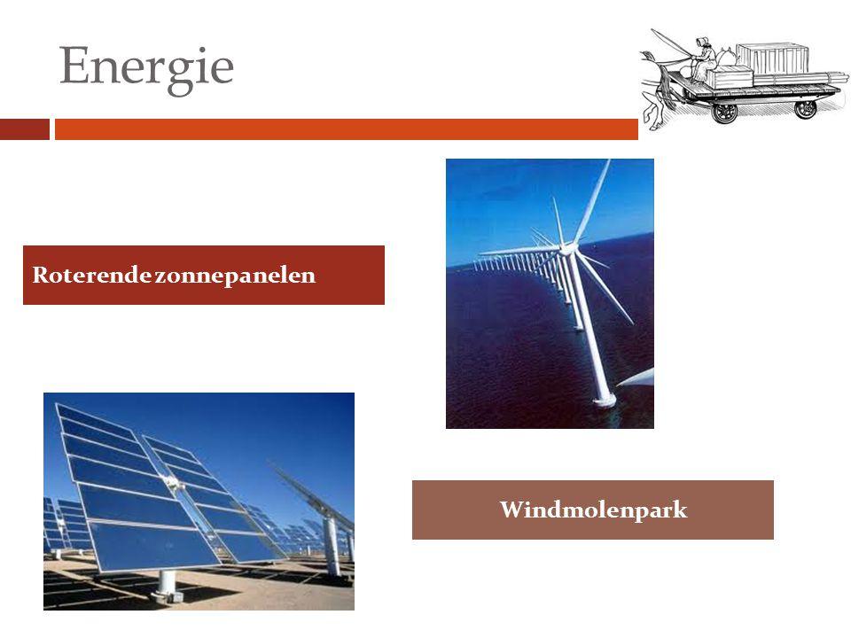 Energie Roterende zonnepanelen Windmolenpark