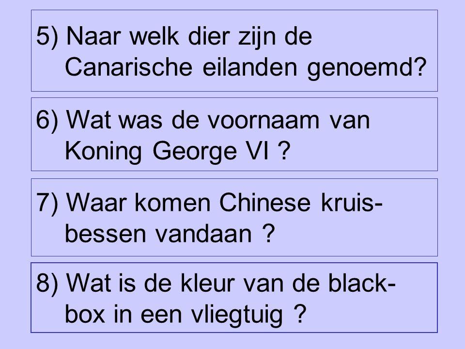 8) Wat is de kleur van de black- box in een vliegtuig .